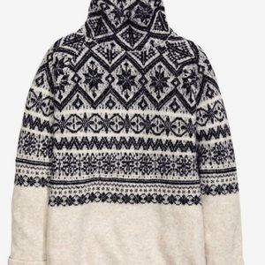 Fair Isle Wool Blend Chunky Sweater Size XS